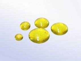Bullseye-Muggelstein 1120 - gelb