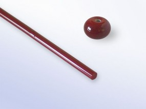 Lauscha-Glasstab SNT220 - rot dunkel