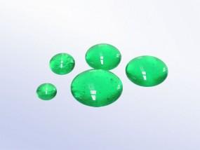 Bullseye-Muggelstein 1417 - smaragdgrün