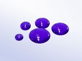 Bullseye-Muggelstein 1114 - kobaltblau